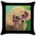 leroy for clock Throw Pillow Case (Black)