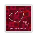 You Light Up My Life pink Memory card reader - Memory Card Reader (Square)