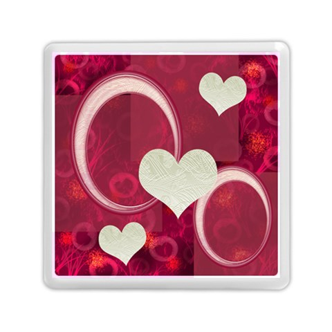 I Heart You Pink Memory Card Reader By Ellan   Memory Card Reader (square)   Hcjfp9hducyb   Www Artscow Com Front