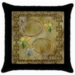 Neutral gold2 throw pillow case - Throw Pillow Case (Black)