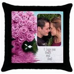 Pink Heart and Soul - Throw Pillow Case (Black)