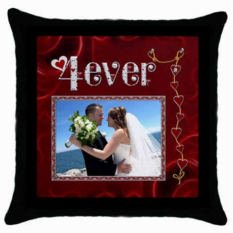 4ever Throw Pillow By Lil    Throw Pillow Case (black)   Ipzh04rzw5bu   Www Artscow Com Front