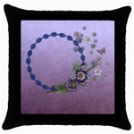 Heal/Mother/Purple- pillowcase 1 side - Throw Pillow Case (Black)