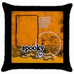 Spooky Halloween- pillow (1side) - Throw Pillow Case (Black)