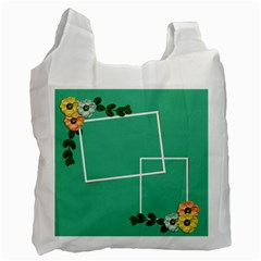 Recycle Bag (two Sides)   Summer Flowers By Jennyl   Recycle Bag (two Side)   7kilsrbbnrj2   Www Artscow Com Front