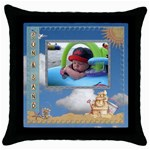 Sun and Sand Throw Pillow - Throw Pillow Case (Black)