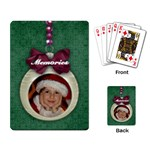 Christmas ornament-playing cards - Playing Cards Single Design