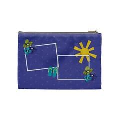 Cosmetic Bag (medium)   Summer Escapade By Jennyl   Cosmetic Bag (medium)   Ms2sdbxpoos2   Www Artscow Com Back