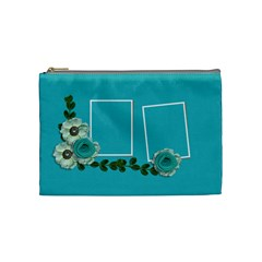 Cosmetic Bag (medium)  Blue Dreams By Jennyl   Cosmetic Bag (medium)   Z2wiel24ymhe   Www Artscow Com Front