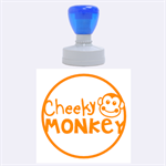 My Cheeky Monkey -Rubber Stamp Round (L) - Rubber Stamp Round (Large)
