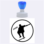 Skate/Sports-Rubber Stamp Round (L) - Rubber Stamp Round (Large)