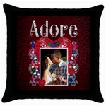 Adore Throw Pillow - Throw Pillow Case (Black)