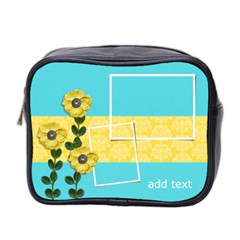Mini Toiletries Bag (two Sides)   Yellow Flowers By Jennyl   Mini Toiletries Bag (two Sides)   Fxh3bf0lxome   Www Artscow Com Front