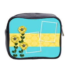 Mini Toiletries Bag (two Sides)   Yellow Flowers By Jennyl   Mini Toiletries Bag (two Sides)   Fxh3bf0lxome   Www Artscow Com Back