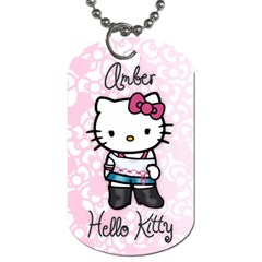 Amber Hello Kitty Necklace By Krystal   Dog Tag (two Sides)   Xbwskaxgigt3   Www Artscow Com Front