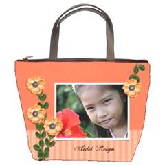 Bucket Bag   Orange Twist By Jennyl   Bucket Bag   U5zga4k2uhxh   Www Artscow Com Front