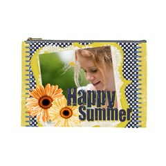 Happy Summer By Joely   Cosmetic Bag (large)   Kkxs9xxax0i3   Www Artscow Com Front