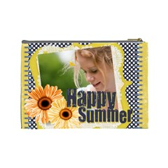 Happy Summer By Joely   Cosmetic Bag (large)   Kkxs9xxax0i3   Www Artscow Com Back