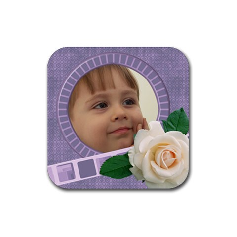 My Little Rose Coaster By Deborah   Rubber Coaster (square)   1slgn7tfe3xz   Www Artscow Com Front