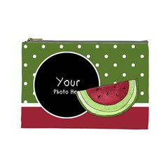 Watermelon Cosmetic Bag Large By Lillyskite   Cosmetic Bag (large)   Vvgsimj4fib2   Www Artscow Com Front
