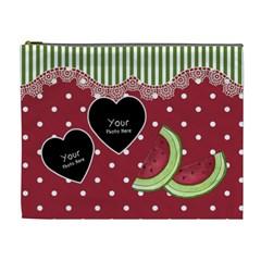 Watermelon Cosmetic Bag Xl By Lillyskite   Cosmetic Bag (xl)   9qhq19ht5udb   Www Artscow Com Front