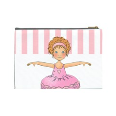 Ballerina Cosmetic Bag Large By Lillyskite   Cosmetic Bag (large)   Wmcywllljexa   Www Artscow Com Back