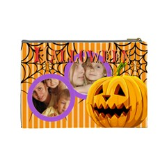 Halloween By Wood Johnson   Cosmetic Bag (large)   I4vpkpqv2sbz   Www Artscow Com Back