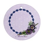 Purple/Heal/girl-Ornament (Round, 1 side) - Ornament (Round)