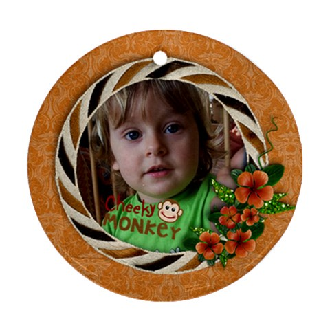 Cheeky Monkey Ornament (round, 1 Side) By Mikki   Ornament (round)   2arliv50pzh1   Www Artscow Com Front
