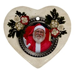 Christmas/flowers Ornament (heart, 2 Sides) By Mikki   Heart Ornament (two Sides)   Zokuqkq9j1e9   Www Artscow Com Back
