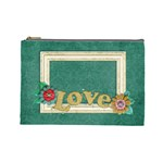 Love/Shabby/flowers-Cosmetic Bag (Large)