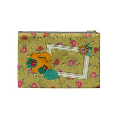 Shabby/floral/turtle  Cosmetic Bag (m)  By Mikki   Cosmetic Bag (medium)   R66ouwo0dd3w   Www Artscow Com Back