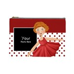 cosmetic bag large red and white - Cosmetic Bag (Large)