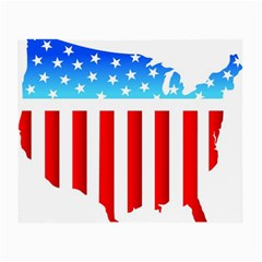 Usa Flag Map Twin Sided Glasses Cleaning Cloth by level3101