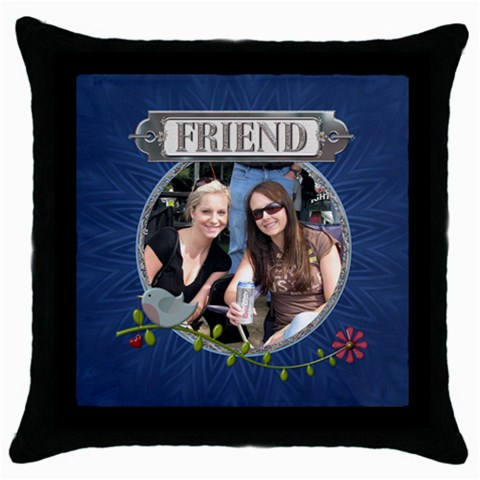 Friend Throw Pillow By Lil    Throw Pillow Case (black)   Whbleau0vt69   Www Artscow Com Front