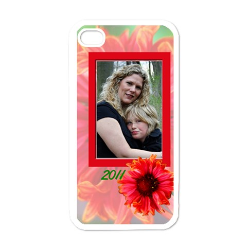 Iphone4flowercase By Patricia W   Apple Iphone 4 Case (white)   K8cq54t7c0ak   Www Artscow Com Front