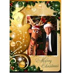 Merry Christmas 5x7 Card 1 - Greeting Card 5  x 7