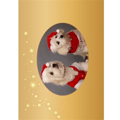 Merry Christmas 5x7 Card 2 By Deborah   Greeting Card 5  X 7    Q2pikj7bhf2s   Www Artscow Com Front Inside