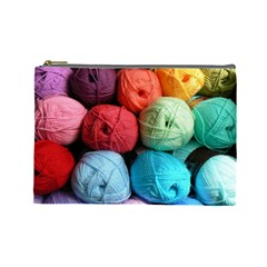 Cosmeticbaglarge Wool By Mary   Cosmetic Bag (large)   Gpzfu3hvwnan   Www Artscow Com Front