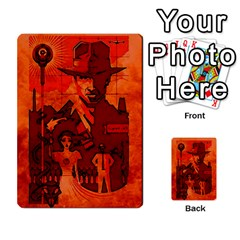 Indiana Jones Fireball Card Set 03 By German R  Gomez   Playing Cards 54 Designs   W9t1xzn1ra8s   Www Artscow Com Back