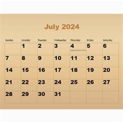 Male Calendar 2017 (large Numbers) By Deborah   Wall Calendar 11  X 8 5  (12 Months)   Cicfiojs6ete   Www Artscow Com Jul 2017
