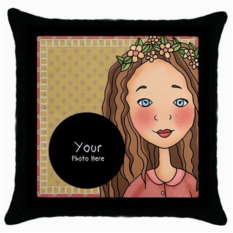 Throw Pillow By Lillyskite   Throw Pillow Case (black)   Kg65ributgg1   Www Artscow Com Front