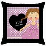 throw pillow - Throw Pillow Case (Black)