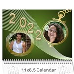 Styled in Green 2018 Calendar (large Numbers) - Wall Calendar 11  x 8.5  (12-Months)
