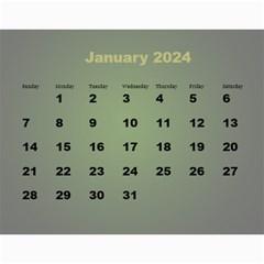 Styled In Green 2017 Calendar (large Numbers) By Deborah   Wall Calendar 11  X 8 5  (12 Months)   Pmvjg0m26eww   Www Artscow Com Jan 2017