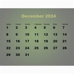 Styled In Green 2017 Calendar (large Numbers) By Deborah   Wall Calendar 11  X 8 5  (12 Months)   Pmvjg0m26eww   Www Artscow Com Dec 2017