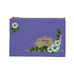 Cosmetic Bag (large)   Purple Sweet Dreams By Jennyl   Cosmetic Bag (large)   L0edmvyh684o   Www Artscow Com Front