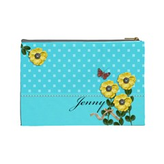 Cosmetic Bag (large)   Yellow Flowers 4u By Jennyl   Cosmetic Bag (large)   Ls0j0qyfvez4   Www Artscow Com Back