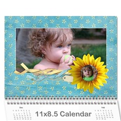 Sunflowers/family Photo 2015 Calendar (12 Months) By Mikki   Wall Calendar 11  X 8 5  (12 Months)   9wq0orgx6y9p   Www Artscow Com Cover