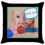 for you - Throw Pillow Case (Black)